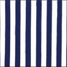 Navy and White Cabana Stripe Chintz - LPR83