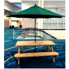Wooden Picnic Table with Umbrella - SF101