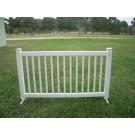 White Barricade Fence - PR70