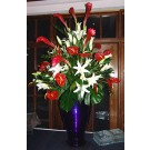 Red Ginger and White Lily Buffet Arrangement - PF97