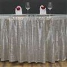 "108"" Silver Sequin Glitz Tablecloth - LSG05"