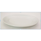 Small Oval Appetizer Plate with Swirl Design