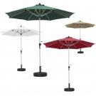 9' Canvas Umbrellas on Heavy Base (Qty: 30+) - PR68