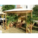 Bamboo and Steel Gazebo
