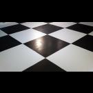 Black and White Glossy Dance Floor - LD18
