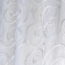 White and Silver Braided Scroll - LSH13