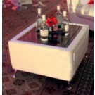 White Leather Coffee Table - SF41