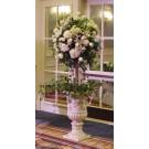 White Rose Floor Topiary - PF108