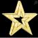 Glittering LED 3-D Star